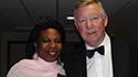 Fergie Time: Bunmi and legendary Man Utd manager Sir Alex Ferguson.